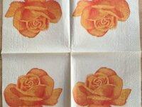 """Serviette en papier """"Rose orange"""" 2"""