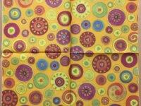"""Serviette en papier """"Cercles multicolores&quo 1"""