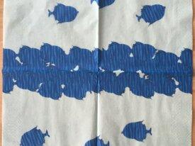 """Serviette en papier """"Poissons bleus"""""""