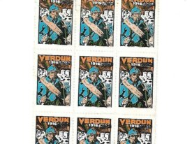 lot 9 vignettes commemoratif Verdun 1916