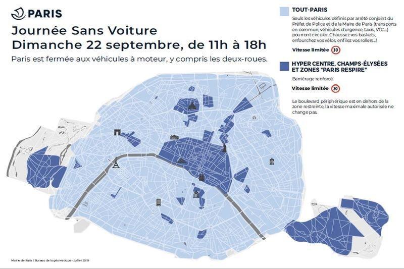 Journée Sans Voiture à Paris, dimanche 22 septembre