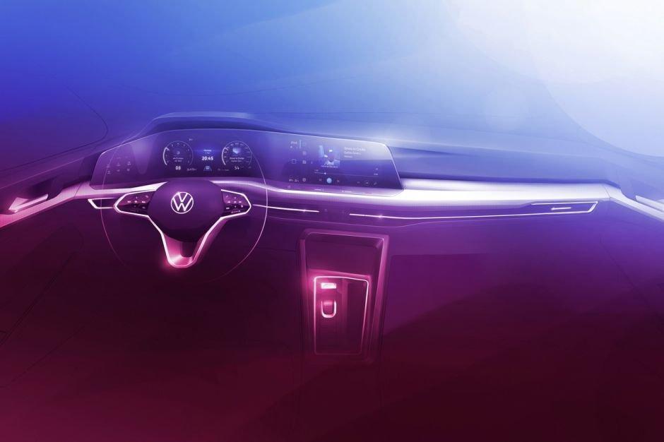 La future Volkswagen Golf : la planche de bord