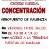 Concentración aeropuerto de Valencia
