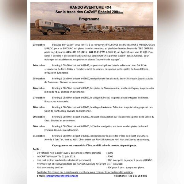 """Raid """"Sur les traces des Gazell - Spécial 200°"""""""