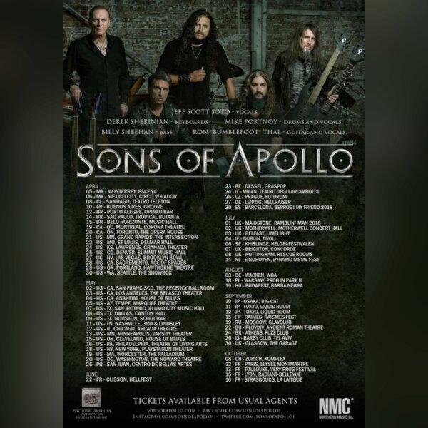 Tournée SONS OF APOLLO | FRANCE