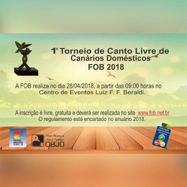 1º Torneio de Canto Livre de Canários Domesticos