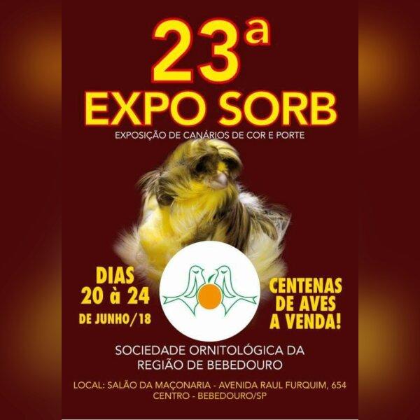 23º EXPO SORB - Exposição Canarios Cor e Porte