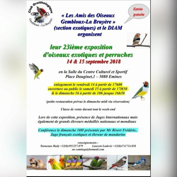 DIAM show, Emines Belgique le 14 et 15 septembre 2