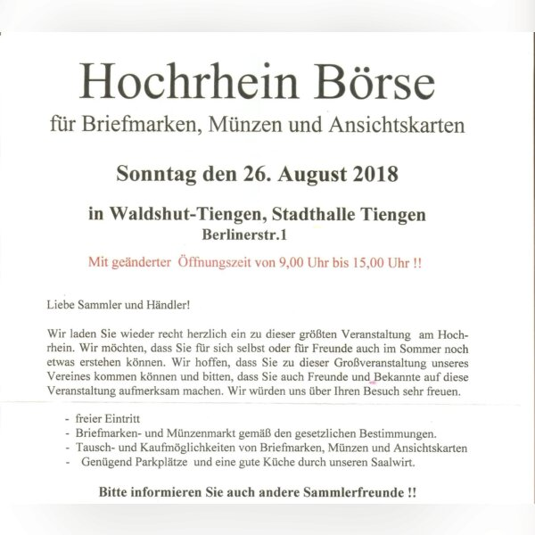 Hochrhein Börse