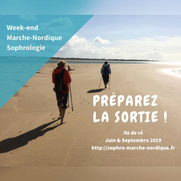 Marche Nordique Sophrologie sur l'ile de Ré