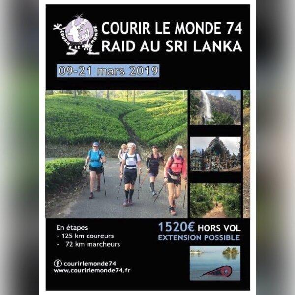 COURIR LE MONDE 74 au SRI LANKA