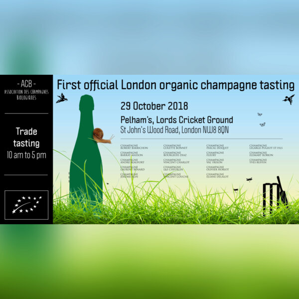 First official London organic champagne tasting