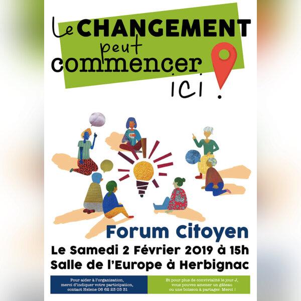 """Forum citoyen """" Le changement peut  ...- Herbignac"""