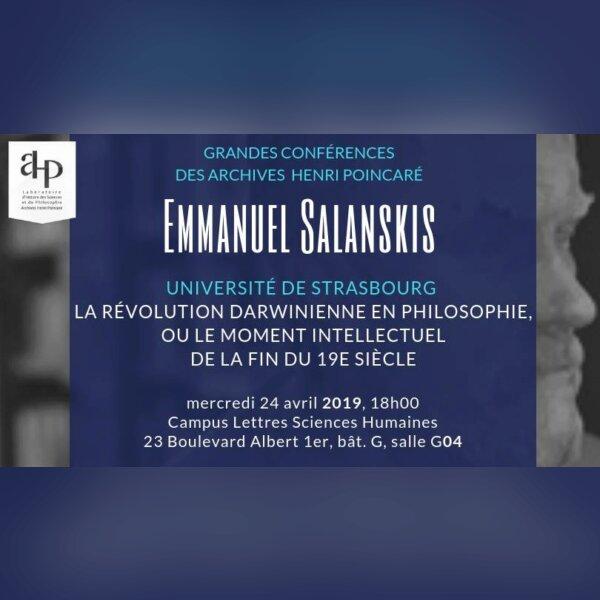 Grande conférence : la révolution darwinienne