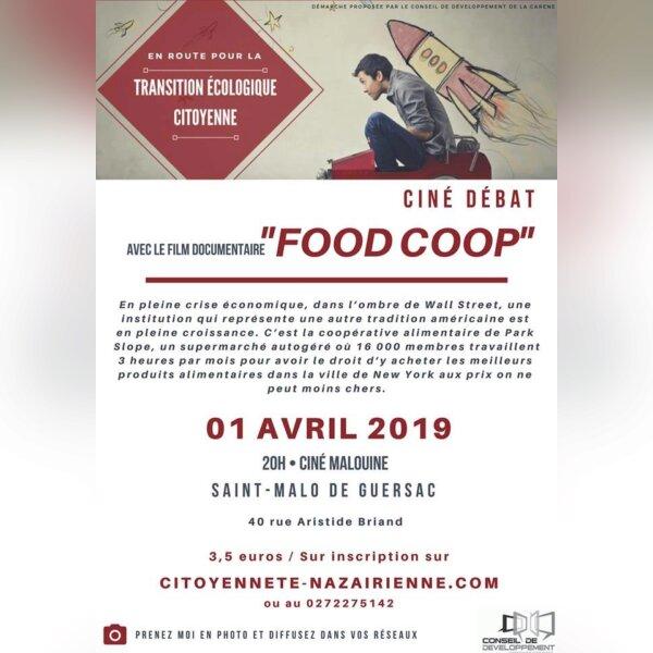 """Ciné débat Documentaire """"Food coop"""" - St Malo"""