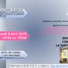 Conférences à Toulouse. Lundi 8 avril.14h30 et 19h