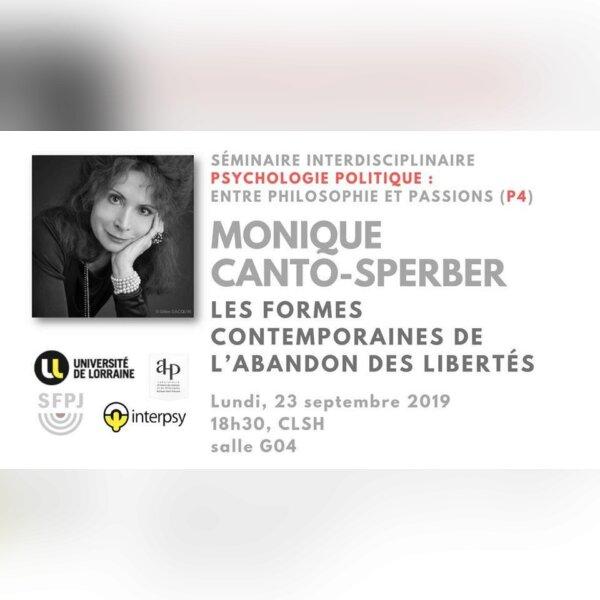 Séminaire : Monique Canto-Sperber