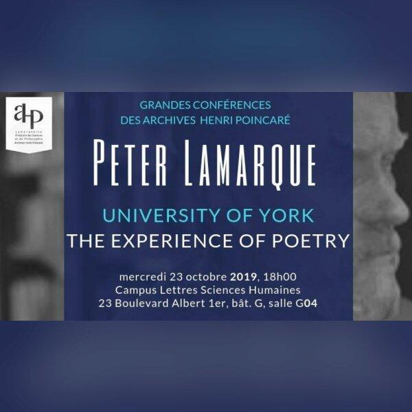 Grande Conférence des AHP : Peter Lamarque