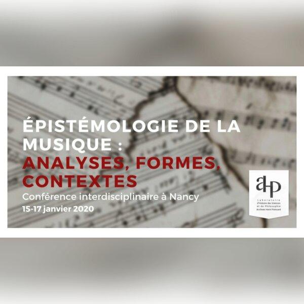 Colloque Épistémologie de la musique
