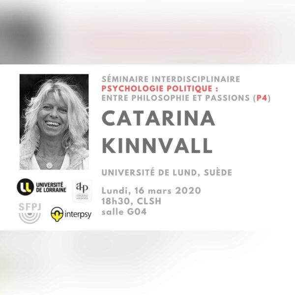 Séminaire : Catarina Kinnvall