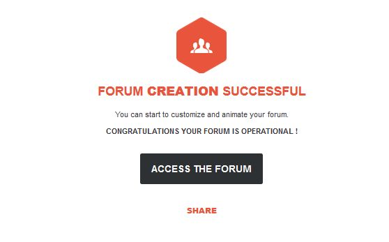 forum creation successfully in step 4