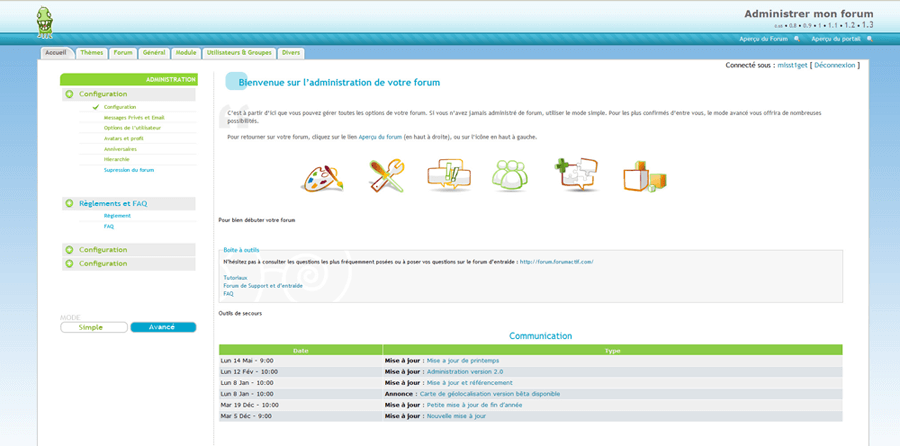 personnaliser son forum de discussion