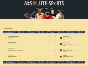 Free forum : Absolute Sports