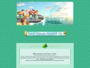 AC'One : Forum Animal Crossing 3DS New Leaf, WII, DS et GC