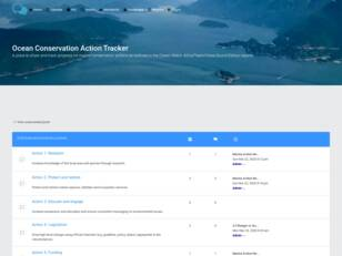 Ocean Conservation Action Tracker