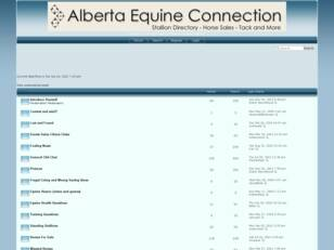 Free forum : Alberta Equine Connection