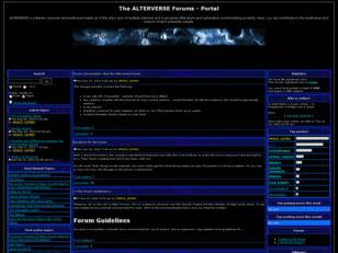 The ALTERVERSE Forums