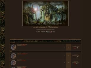 Les chroniques de l'Antemonde - Forum du module Neverwinter Nights