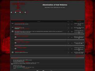 Forum free : Abomination of God Webzine