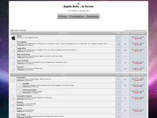 Apple-Actu : Le Forum