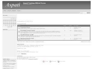 Aspati Training Official Forum