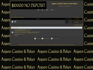 Aspen online Casino and Poker
