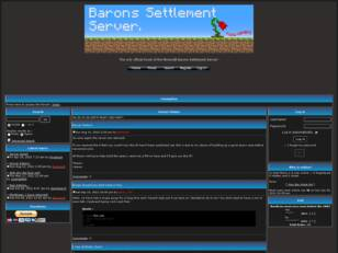 Barons Settlement Server Forum