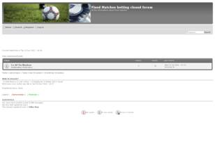 Fixed Matches betting closed forum