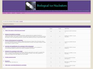 Free forum : Biological Ice Nucleators