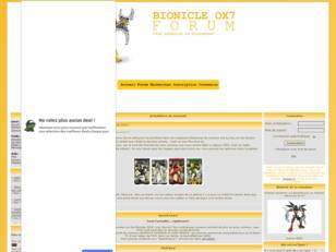 BIONICLE OX7 FORUM