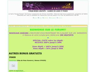 FORUM CASINOS, BONUS GRATUITS