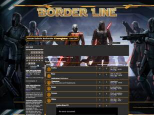 Forumactif.com : Border Line Star wars the old république