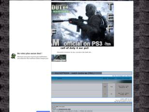 creer un forum : call of duty 4 sur ps3