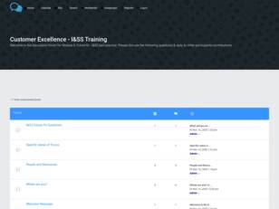 Customer Excellence - I&SS Training