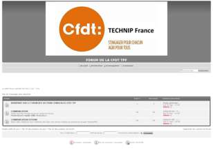 FORUM PRIVE DE LA CFDT TPF