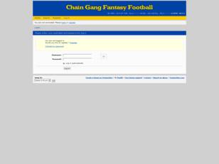 Chain Gang Fantasy Football League
