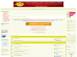 AVACS Universal Help and Development Forum