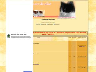creer un forum : Le monde des chats