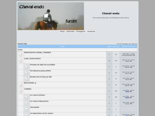 creer un forum : Cheval-endu