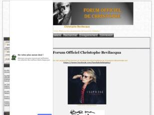 Forum officiel: Christophe Bevilacqua